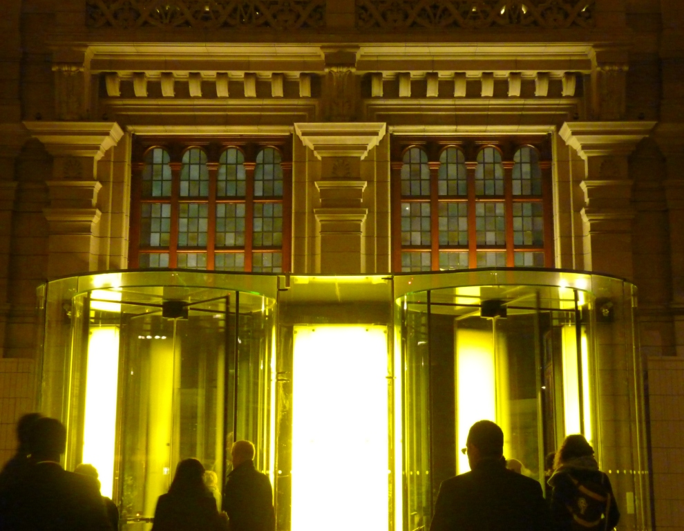 Exit to the V&A museum seen from inside
